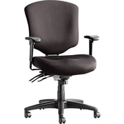 Alera ALEWP42SFB10B Wrigley Polyester Mid-Back Executive Chair with Adjustable Arms, Black