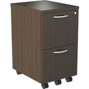 "Alera® SedinaAG 20""D 2 Drawer Mobile File/File Pedestal, Espresso"