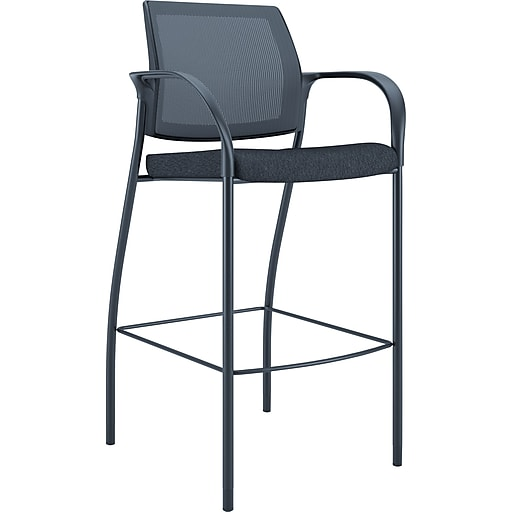 "HON® Ignition® 31"" Mesh Back Cafe-Height Stool, Black (HONIC108NT10)"