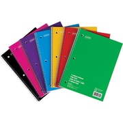 "Staples® 1-Subject Notebook, 10-1/2"" x 8"", Assorted, 140 Pages"