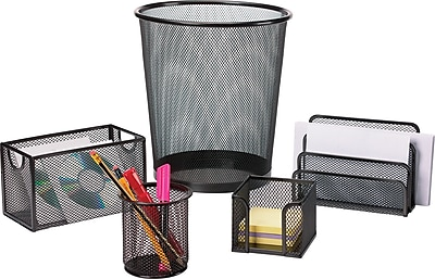 Staples 2030228 Storage Box Hanging White Mesh