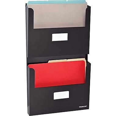 SteelMaster® - Organisateur à 2 pochettes, format lettre, noir