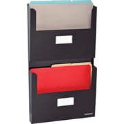 SteelMaster® 2-Pocket Office Organizer, Letter Size, Black