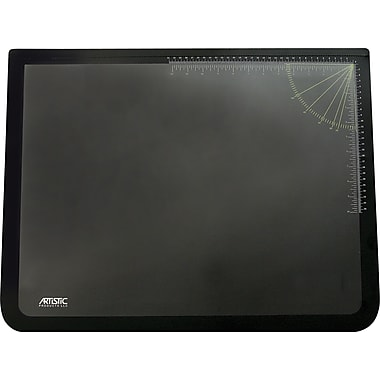 Artistic Products - Sous-main LogoPad avec revêtement transparent, 19 po x 24 po, noir/transparent