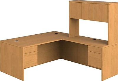 10500 Series L-Shaped Office Desk w/ Hutch, 72