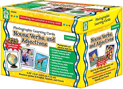 Key Education Nouns, Verbs and Adjectives Learning Cards