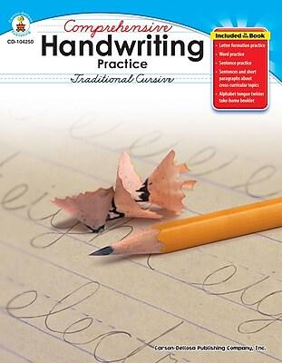 Carson-Dellosa Comprehensive Handwriting Practice: Traditional Cursive Resource Book