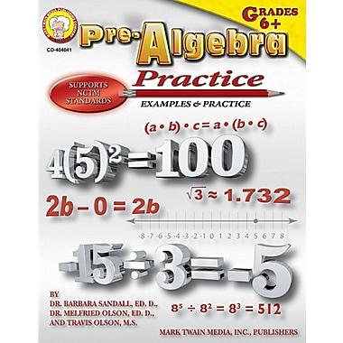 Mark Twain Pre-Algebra Practice Book Resource Book