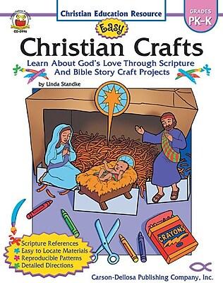 Carson-Dellosa Easy Christian Crafts Resource Book, Grades PK - K