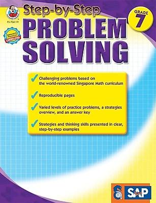 Frank Schaffer Step-by-Step Problem Solving Resource Book, Grade 7