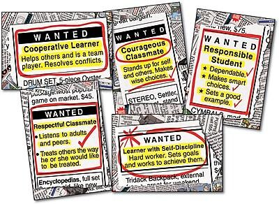 Carson-Dellosa Wanted: Good Character Bulletin Board Set