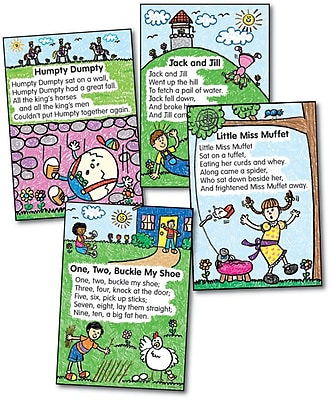 Four Blocks Nursery Rhymes: Kid-Drawn Bulletin Board Set