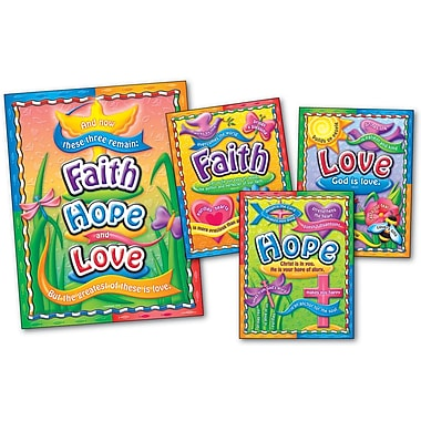 Carson-Dellosa Faith, Hope, and Love Bulletin Board Set
