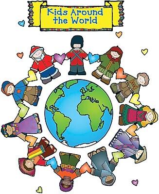 D.J. Inkers Kids Around the World Bulletin Board Set