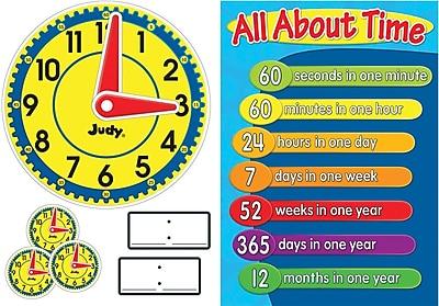 Carson-Dellosa Judy® Clock Bulletin Board Set, 34/Pk