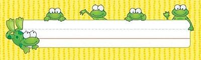 Carson-Dellosa Frogs Nameplates