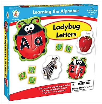 Carson-Dellosa Ladybug Letters Board Game, Ages 4 and up