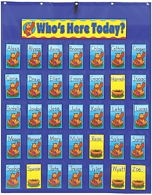 Carson-Dellosa Attendance/Multiuse Pocket Chart