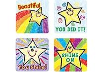 Carson-Dellosa Stars Motivational Stickers, Kid Drawn, All Grades