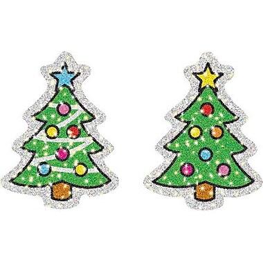 Carson-Dellosa Christmas Trees Dazzle™ Stickers