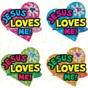 Carson-Dellosa Jesus Loves Me Dazzle™ Stickers