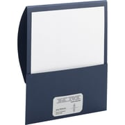 "Smead Stackit™ Folders in Linen Stock, Dark Blue, 9 1/2""W x 11 1/2"", 5/Pk"