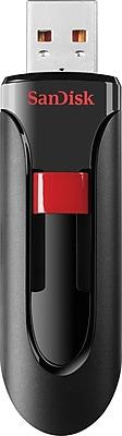 SanDisk Cruzer Glide 64GB USB 2.0 Flash Drive, Black/Red (SDCZ60-064G-A46)