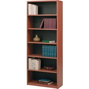 Safco® Value Mate® 6-Shelf Steel Bookcase, Cherry