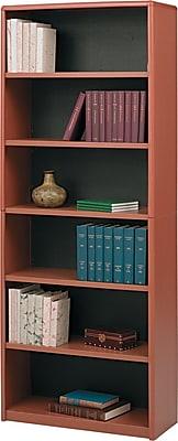Safco® Value Mate® 6-Shelf Steel Bookcase, Cherry