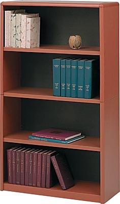 Safco® Value Mate® 4-Shelf Steel Bookcase, Cherry