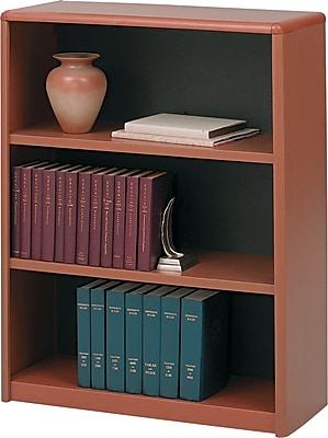 Safco® Value Mate® 3-Shelf Steel Bookcase, Cherry