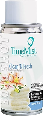 TimeMist® Micro Ultra Concentrated Metered Air Freshener Refill, Clean N Fresh, 3 oz. Aerosol Can