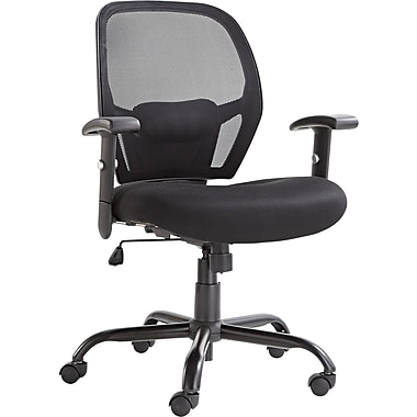 alera merix450 big and tall swivel mesh office chair, black
