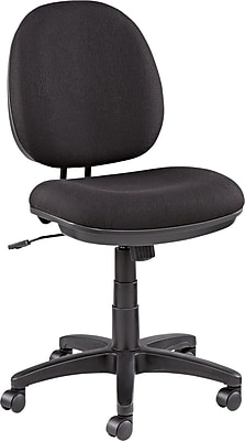 Alera ALEIN4811 Interval Acrylic Armless Task Chair, Black