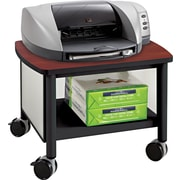 "Safco Impromptu Under Table Printer Stand, 14-1/2""H x 20-1/2""W x 16-1/2""D, Black/Cherry"