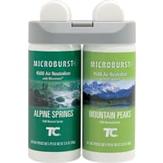 Rubbermaid® Commercial Microburst® Air Freshener Refill, Alpine Springs/Mountain Peaks, Clear, 4 oz.