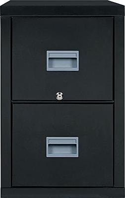 FireKing Patriot Vertical File Cabinet, Legal, 2-Drawer, Black, 31 9/16