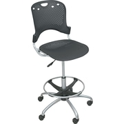 BALT® Polypropylene Back/Seat Circulation Stool, Black