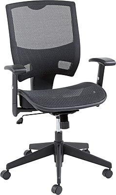 Alera ALEEP4218 Epoch Mesh Mid-Back Managers Chair with Adjustable Arms, Black