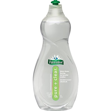 Palmolive® Pure + Clear Dishwashing Liquid, Light Scent, 25 oz. Bottle, 12/Case
