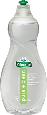 Palmolive® Pure + Clear Dishwashing Liquid, Light Scent, 25 oz. Bottle, 12/Case