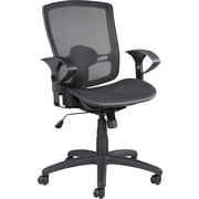 Alera ALEET4218 Etros Mesh Mid-Back Executive Chair with Adjustable Arms, Black