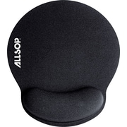 "Memory Foam Mouse Pad with Wrist Rest, Black, 9"" W x 10"" D x 1"" H"