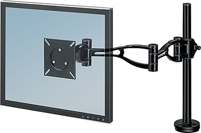 Fellowes 8041601 Professional Series Depth Adjustable Arm for 24 lbs. Monitor, Black