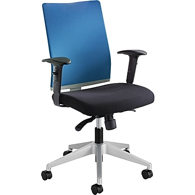 Safco Tez Fabric Managers Office Chair, Adjustable Arms, Blue/Black (7031CO)