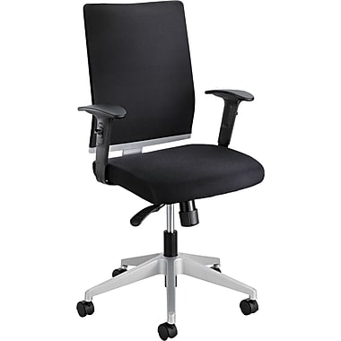 Safco High-Back Mesh Manager's Chair, Adjustable Arms, Black