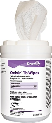 Diversey Oxivir TB Disinfectant Cleaner Wipes, 160