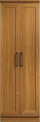 Sauder® HomePlus Storage Cabinet With 2 Doors, 4-Shelf, Sienne Oak, 71 1/8