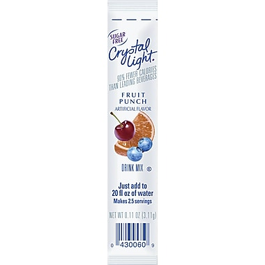Crystal Light® On the Go, Fruit Punch, 30 Packets/Box