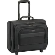 SOLO® Ballistic Poly Rolling Overnighter Laptop Case, Black, 15.6""
